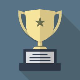 優勝カップのイラストアイコン Flat Icon Design フラットアイコン