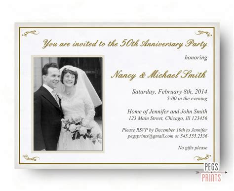 25th wedding anniversary invitations   Marina Gallery Fine art