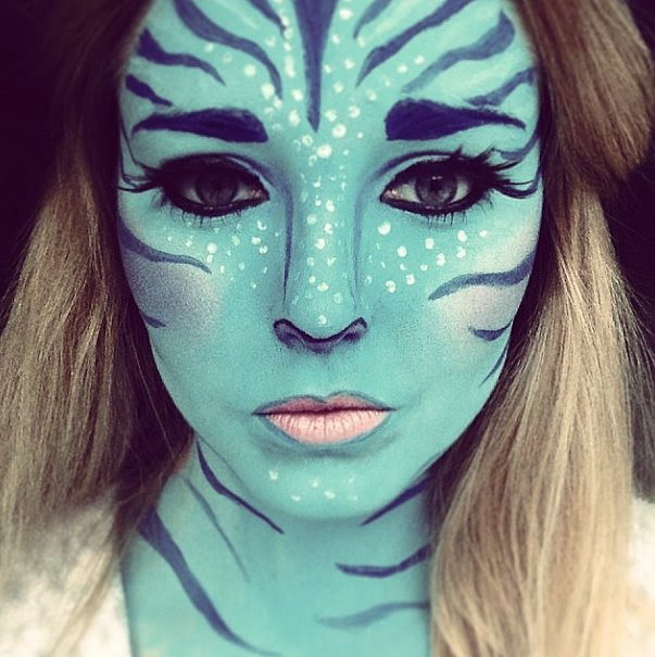 Avatar Fanatic 13 Terrifyingly Cool Face Paint Looks to - Cool Halloween Face Paint