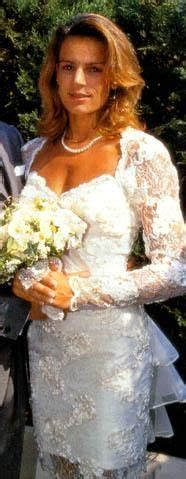 Princess Stephanie of Monaco on her wedding day to Daniel