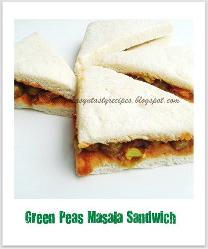 Greenpeas Masala Sandwich