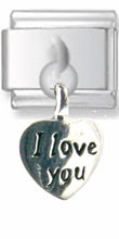 Love Heart Dangle Silver Charm