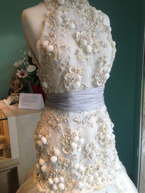 Shell Wedding Dress  Wow!   Seashells & Wedding Bells