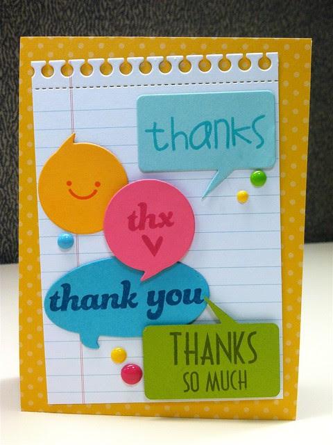 Many Thanks- Paper Smooches