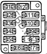 '75-'77 Ford Granada & Mercury Monarch Fuse Box Diagram