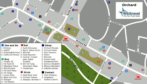 Location Map of Orchard Road Singapore