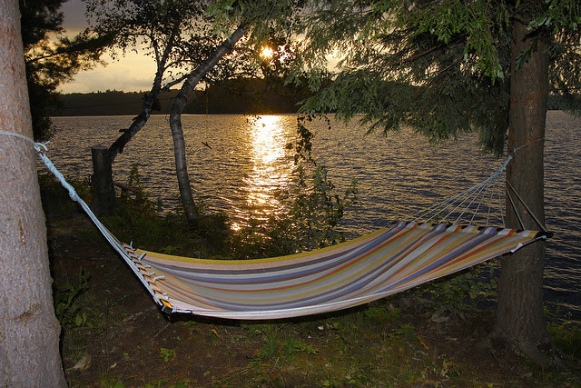hammock sunset flash