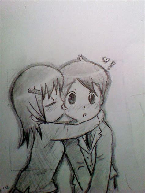 cute anime love sketch drawing  tumblr asem cah