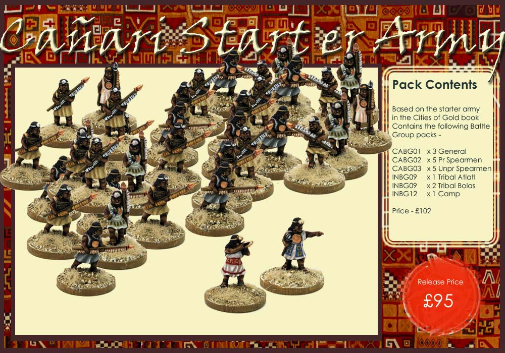 CAA01- Cañari FoG:AM Starter Army - Click Image to Close