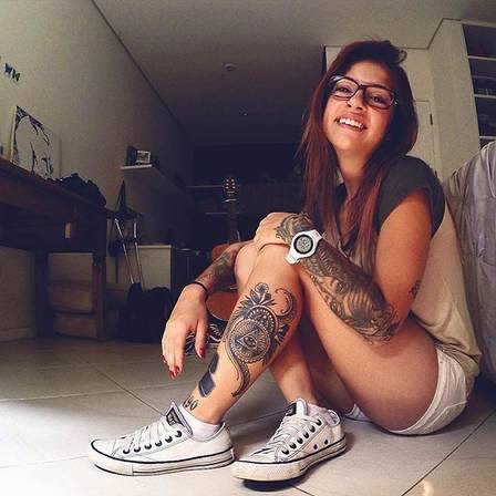 Malu tem um estúdio de tatuagem no Rio