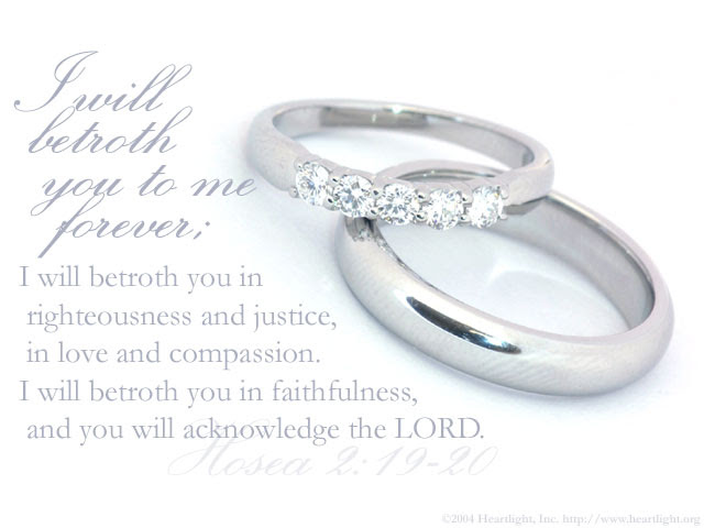 Inspirational illustration of Hosea 2:19-20