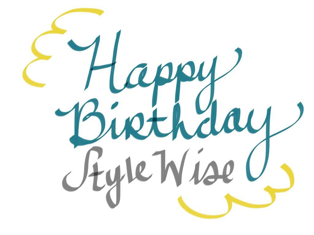 birthday hand lettering