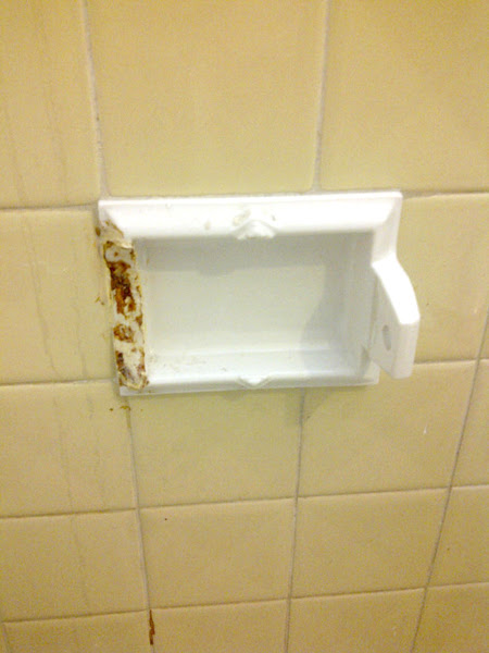 Broken Ceramic Toilet Paper Holder Built In General Diy