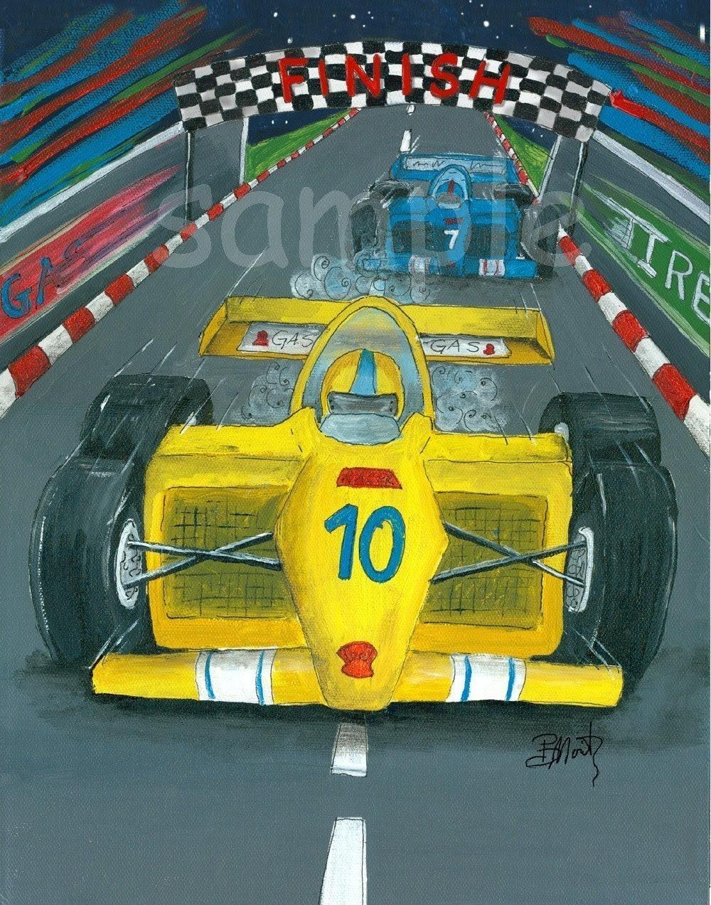 Yellow Racer Art Print