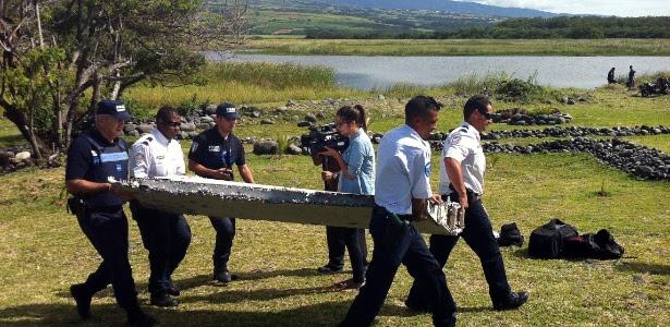 Pedaços de uma asa foram encontrados na manhã da última quarta-feira (29) na costa da ilha francesa de La Réunion, no oceano Índico
