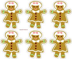 menina ornamentos Gingerbread
