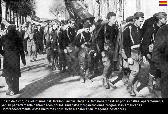 BATALLON LINCILN LLEGADA A BARCELONA