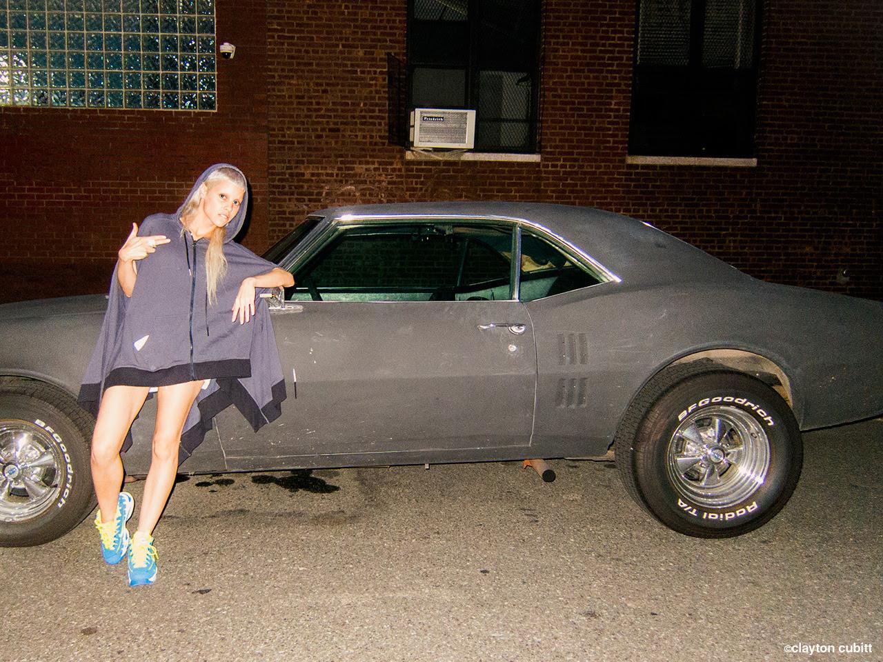 Yolandi and her muscle car, Brooklyn (2513)