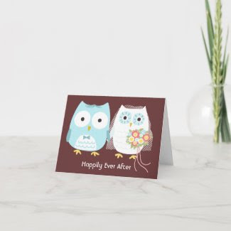 Owls Happily Ever After card