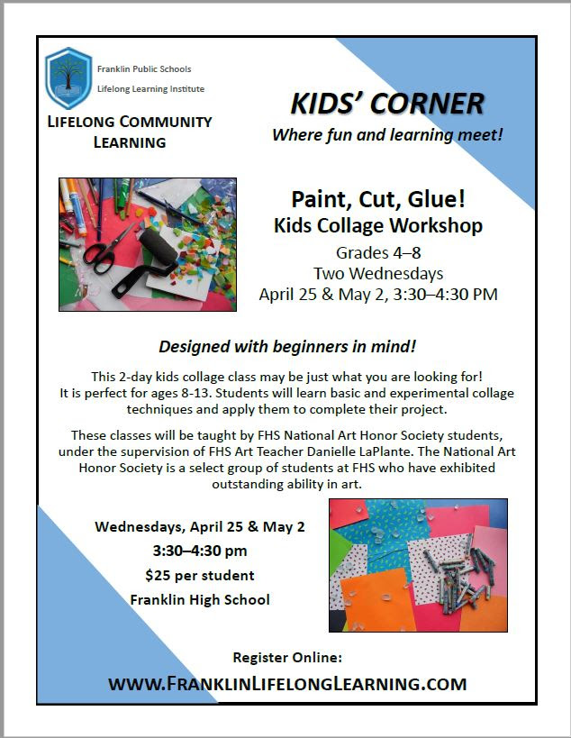 Paint, Cut, Glue! Kids Collage Workshop - Grades 4-8