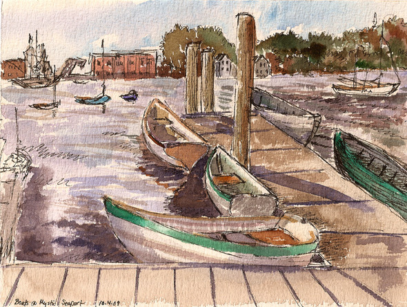 Boats at Mystic Seaport