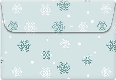 Free Printable Envelope Template   SnowFlakes   Greetings