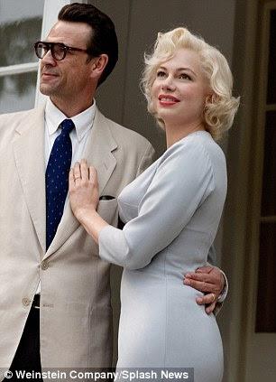 Viver a parte: Michelle como Marilyn com Dougray Scott como Arthur Miller