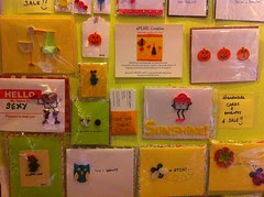 Wall of cute cupcake cards at Sugar Sweet Sunshine by Rachel from Cupcakes Take the Cake