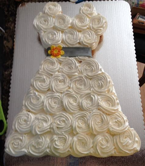 cupcakes in the shape of a wedding dress   Bridal Shower