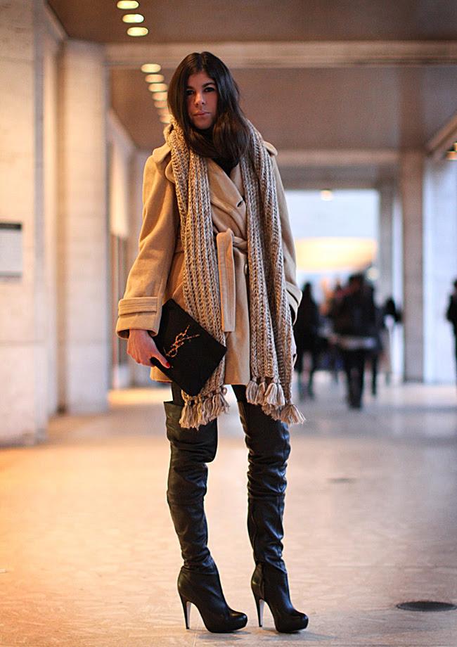 Fashion, Topshop boots, Camel coat, YSL clutch