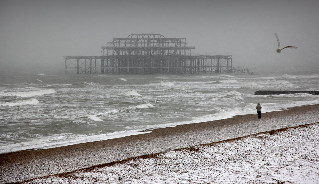 Brighton beach in the dead of winter