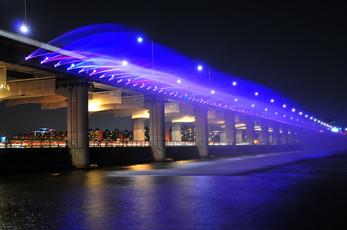 Water Display Show at Banpo Bridge Korea