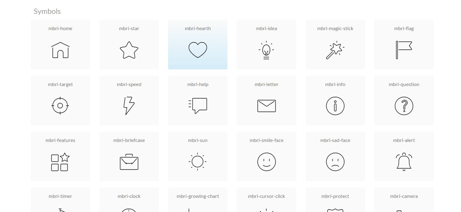 Bootstrap Icons List