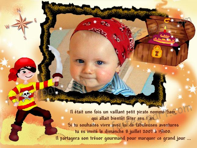Texte Carte Anniversaire Pirate Nanaryuliaortega Blog
