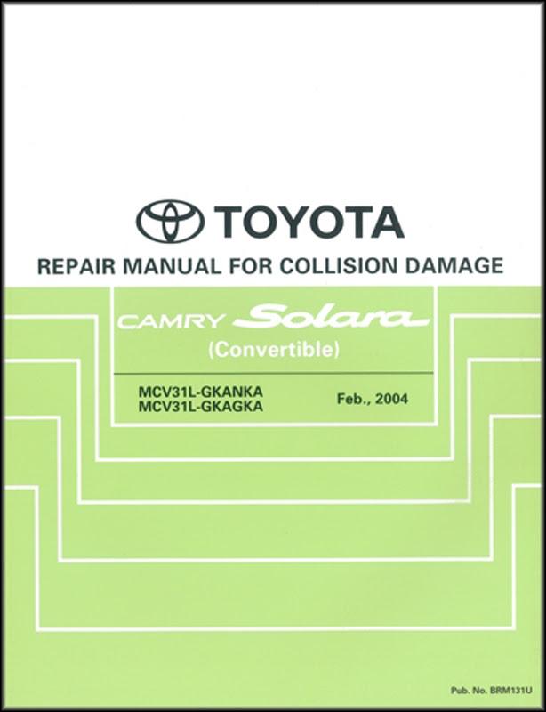 2005 Toyota Camry Solara Wiring Diagram Manual Original
