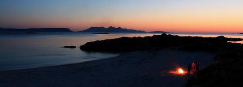 sundown over Rhum by seymour macleod