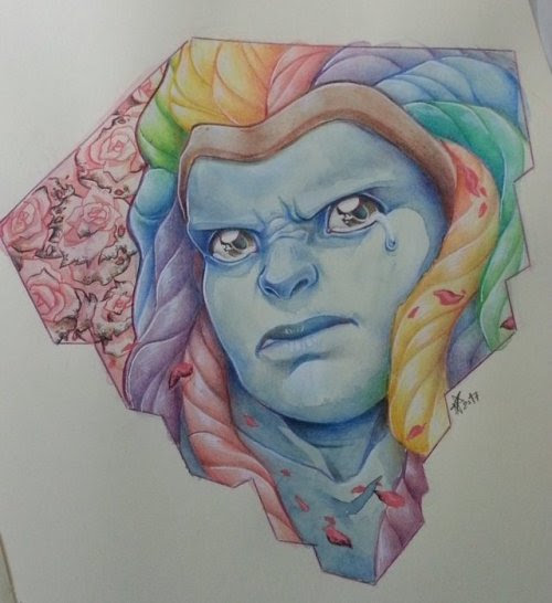 Bismuth. watercolor, color pencils, gouache. 29,7x21 160g paper I have very contradicting feelings about Bismuth, but in the personal department i cant exactly blame her for her resentment towards how...