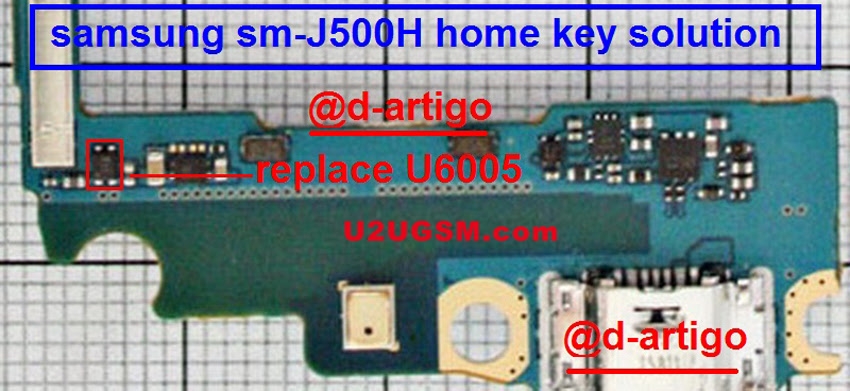 Samsung Galaxy A5 A500H Home Key Button Not Working Problem Solution Jumper