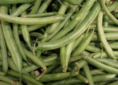 String Beans in bulk at a supermarket