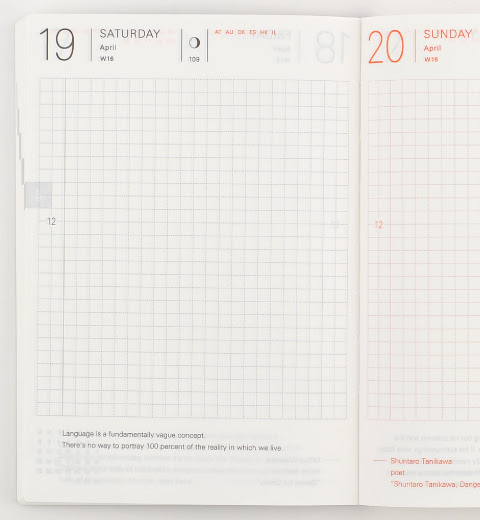 A daily planner for uncovering your story   Hobonichi Planner 2014