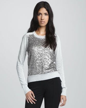Diane von Furstenberg Maryse Sequined Wool Sweater