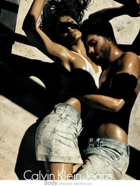 Eva Mendes Jamie Dornan Calvin Klein Jeans ss 2010