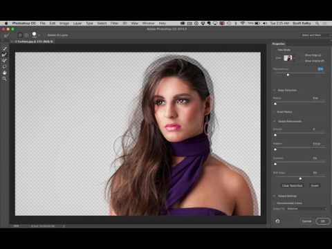 How to Mask Hair Using Photoshop's New Select and Mask Feature