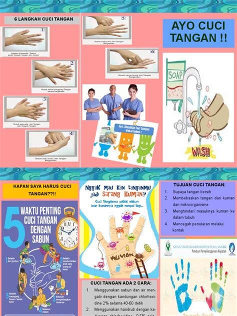 gambar  leaflet cuci tangan  gambar handrub