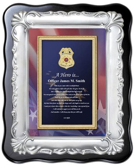 Law Enforcement Gift Policeman Sheriff Plaque Love