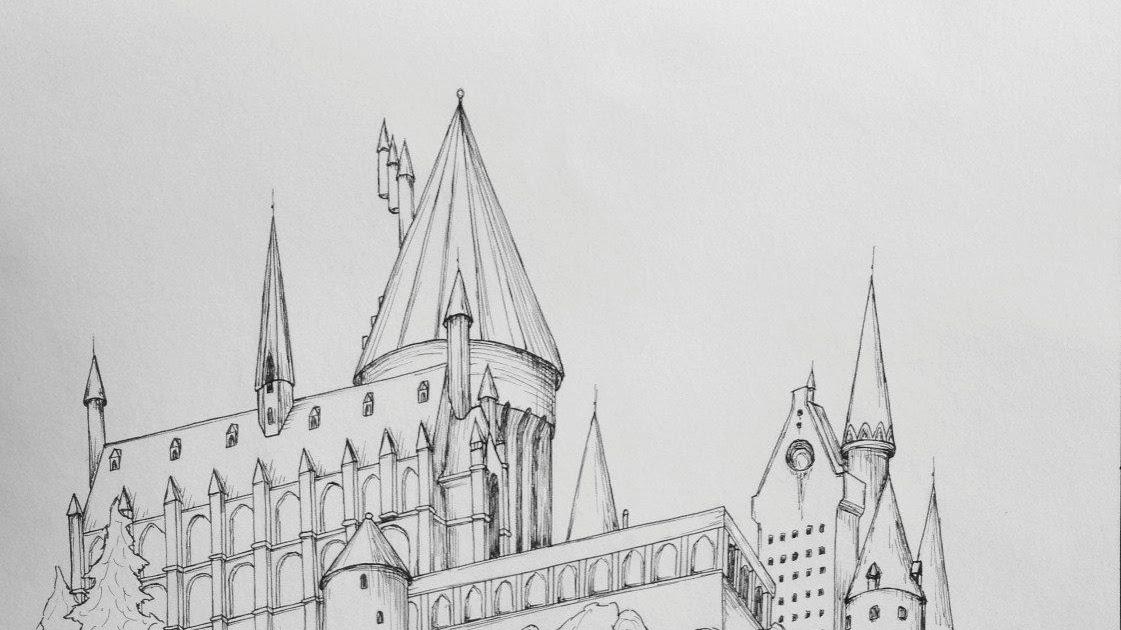 Dessin Facile Chateau Poudlard - Dessin Facile