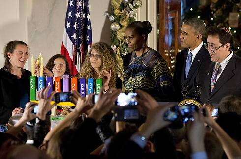 This was the first of two Hanukkah parties held by the White House this year because of high demand (Photo: AP)
