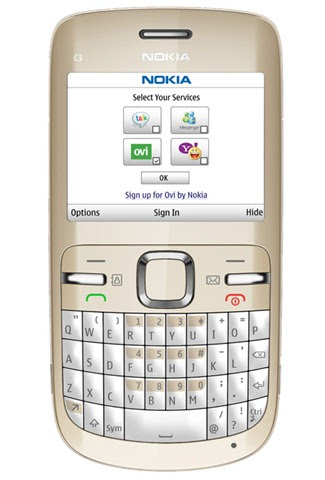 nokia c3 golden white. The Nokia C3 supports