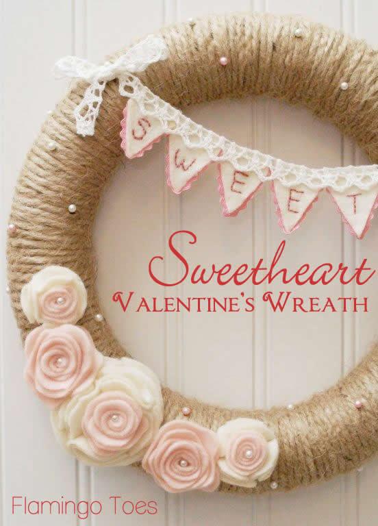 Sweetheart Valentines Wreath