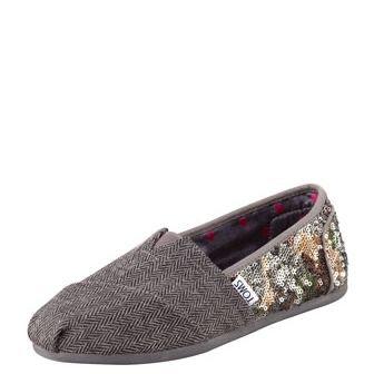 TOMS Sequin Wool Slip-On